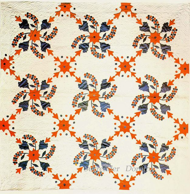 Applique Quilt Stars Leaves & Currants 1910 Ohio | Flickr - Photo Sharing!