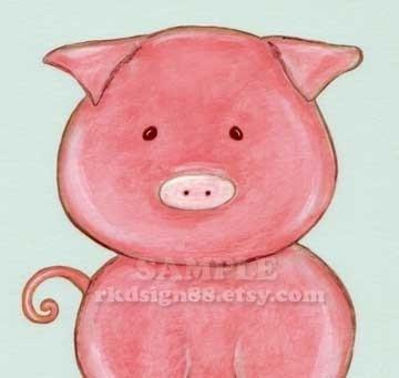 My Oink Oink - sweet nursery print by RKDsign88 on Etsy