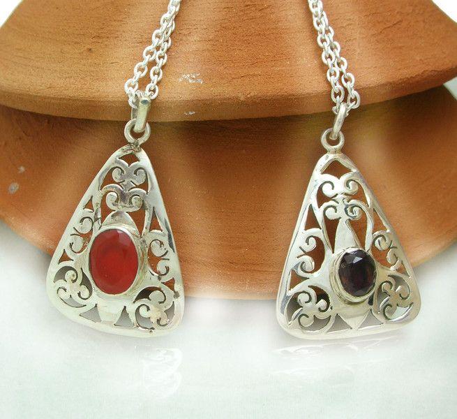 Garnet Jewellery – Whole sale 2 Pcs Carnelian,Garnet Zali Art Pendant – a unique product by IndianCraftPalace on DaWanda