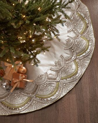 Scallop Tree Skirt By Kim Seybert At Horchow