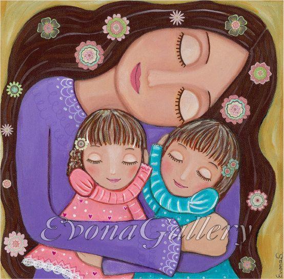 Amor de madre 2 mixta pared Decore por Evona por Evonagallery