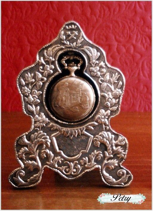 Soporte reloj bolsillo estaño. www.petry.es