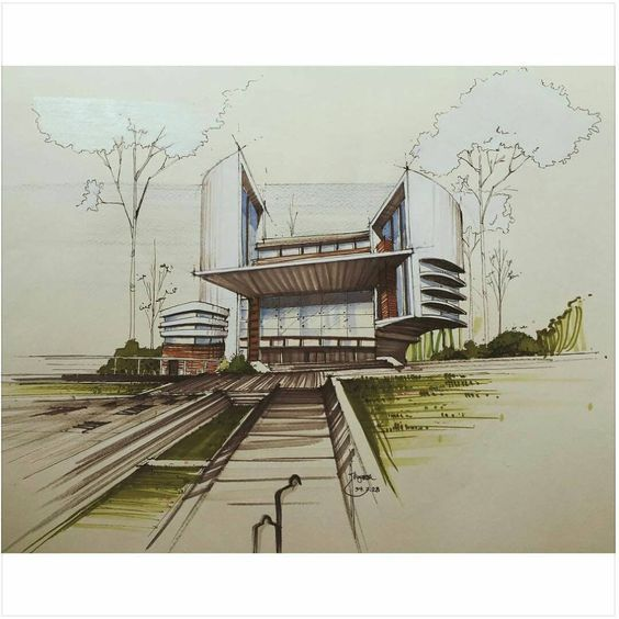 architectural perspective drawing tutorial pdf