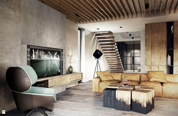 Salon styl Nowoczesny - zdjęcie od razoo-architekci - Salon - Styl Nowoczesny - razoo-architekci