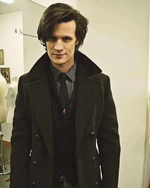 """Photos taken on the days Matt Smith chose his 11th Doctor costume. Some pretty cool variations before finally deciding 'bow-ties are cool'...."