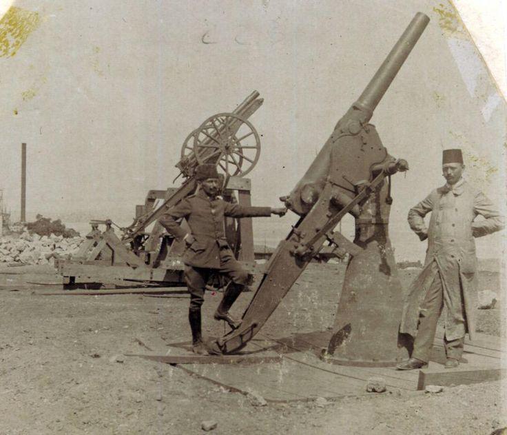 Ottoman anti-aircraft unit at #Çannakkale #Gallipoli 1915. #WW1