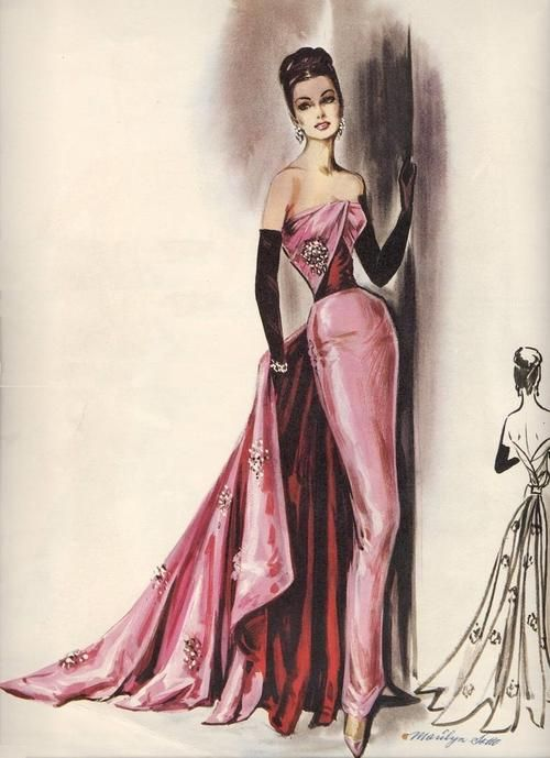 Vintage evening gown                                                                                                                                                     More