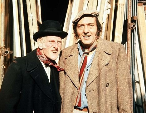 Steptoe and Son Classic 1960s British comedy series about a middle aged man and his elderly father who run an unsuccessful rag and bone business (collecting and selling junk).  Yes! An other great British comedy.