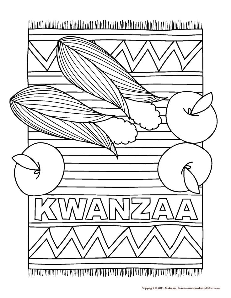 happy kwanzaa coloring pages, printable kwanzaa coloring