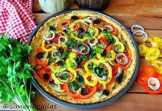 Pizza dietetica cu blat din conopida - simonacallas