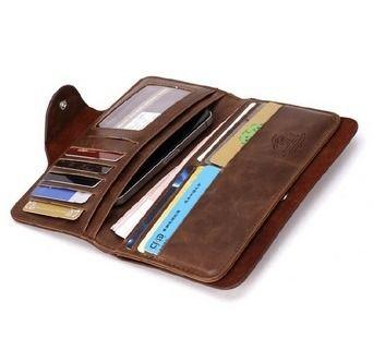 capanga carteira masculina couro longa