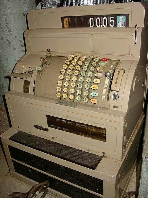 Cash register- back when you had to know basic math and how to count back change