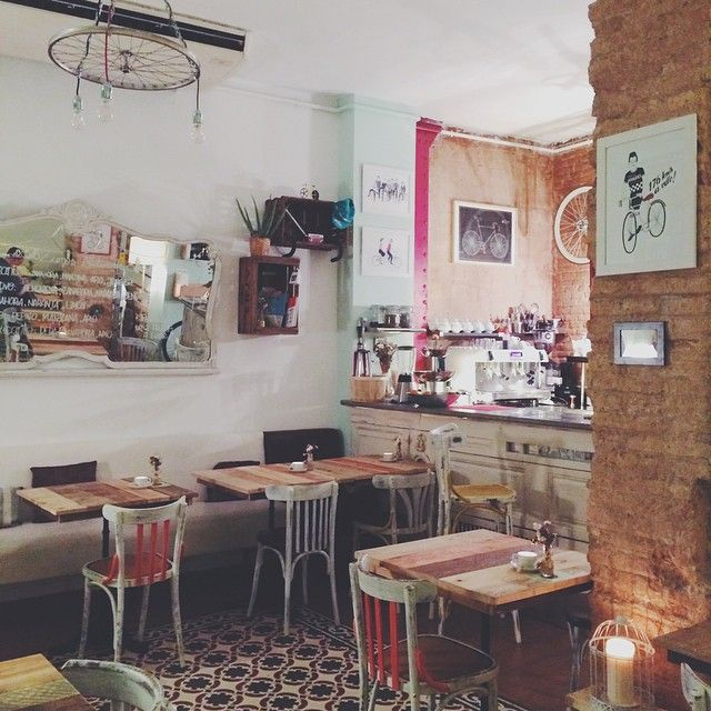 Bicioci Bike Café,  in Barcelona's Gràcia 'hood... Instagram photo by @we_heart (We Heart)   Iconosquare