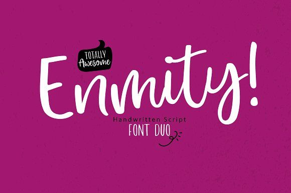 enmity a handwritten script font. This font a perfect for wedding invitation or your blog. Also with their help, you can create a logo or beautiful frame for your home. Or just use for your small business, book covers, stationery and more.