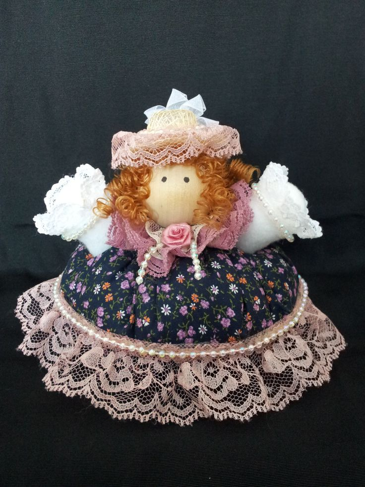 The May Pole Lady. Collectable Pin Cushion Doll. Material: Cotton & Lace. $25.00CAD + S/H if applicable. $0.00 Tax. Please contact Nola at: http://www.facebook.com/elegantcreationsbynola for purchase