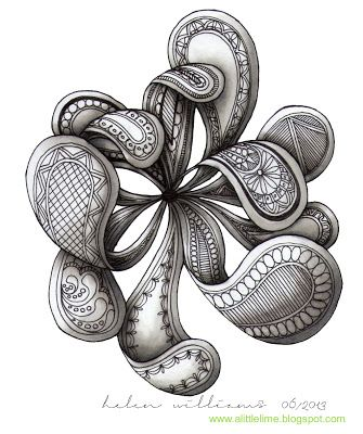a little lime: paisley/flowers by Helen Williams
