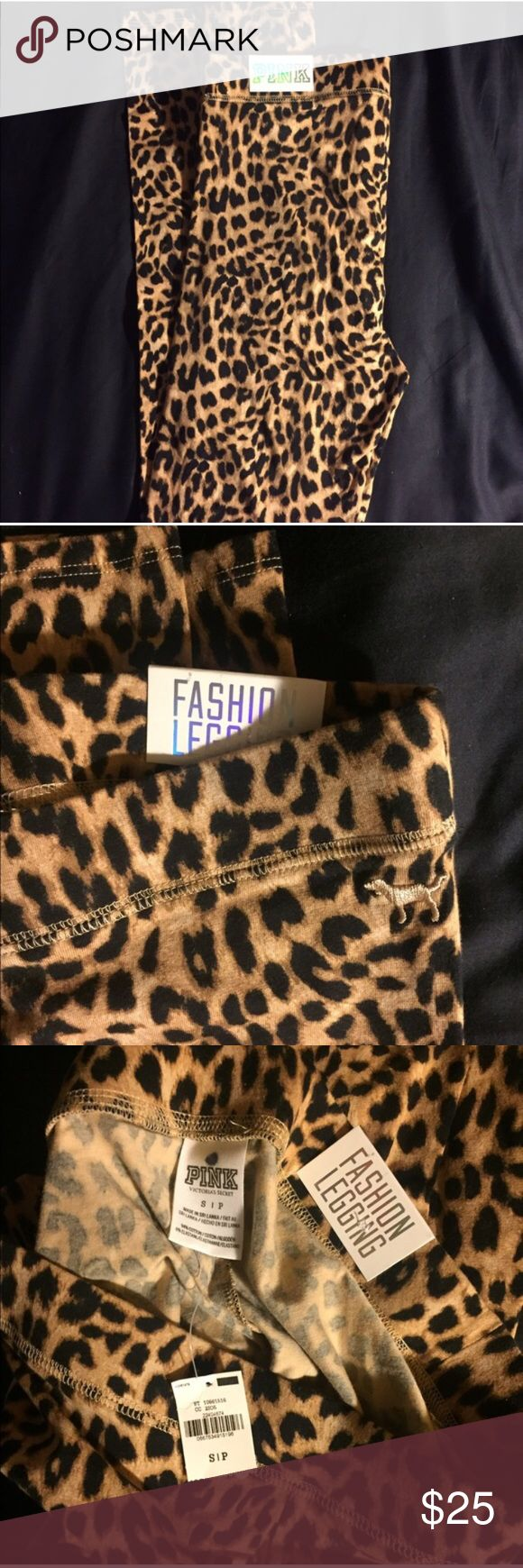 🆕 Cheetah Leggings Never worn still had tags! These leggings are so comfy I have a pair myself in black but who doesn't love cheetah print!                                                                                           •Please no lowball offers but I'm open to reasonable ones:) •Next day ship! •Closing out my closet by July 10th buy while you still can and help me have some extra funds for my move to Savannah!!!! PINK Victoria's Secret Pants Leggings