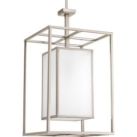 Progress Lighting Haven 1-Light Brushed Nickel Chandelier