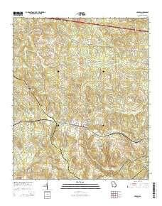 ~ Harlem GA topo map, 1:24000 scale, 7.5 X 7.5 Minute, Current, 2014