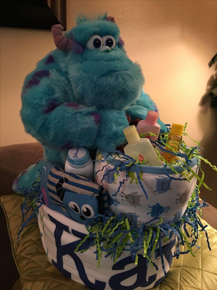 Monster Inc diaper cake