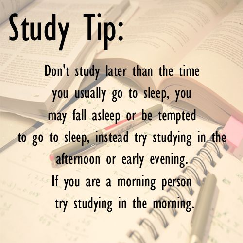 97 best study tips images on pinterest college hacks study tips dont study later than the time you usually go to sleep you may altavistaventures Choice Image