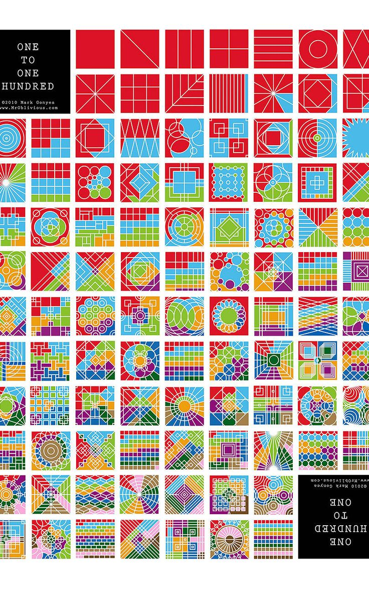 5 | This Graphic Designer Proves There's More Than One Way To Count To 100 | Co.Design | business + design