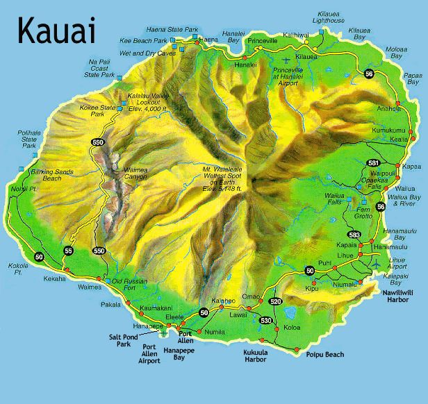 Island of Kauai, to keep my locations straight.