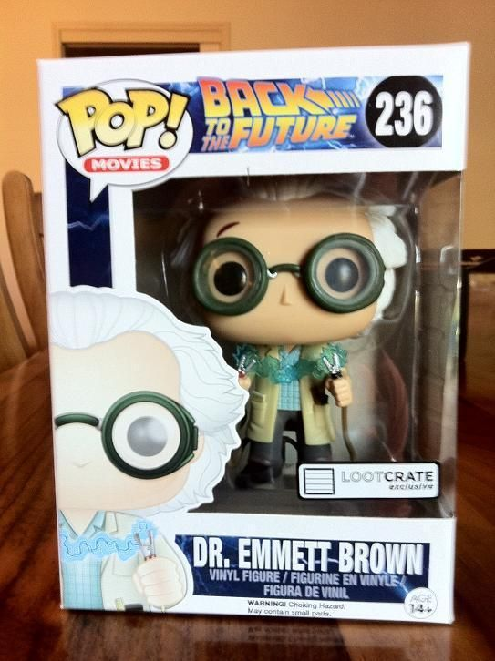 FUNKO POP DR EMMETT BROWN BACK TO THE FUTURE EXCLUSIVE #236 STICKERED in stock #FUNKOPOPEXCLUSIVE