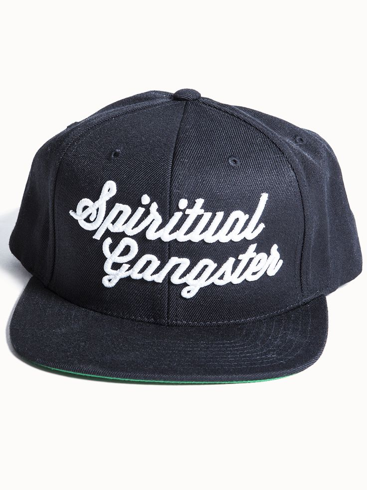 SG Script Snapback Hat by SPIRITUAL GANGSTER - ACCESSORIES & HATS