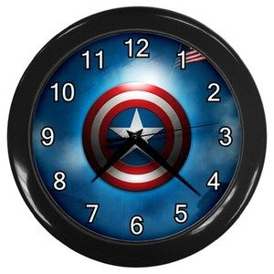 Captain America Comic Superhero Movies 10 Black Home Room Decor Wall Clock | eBay