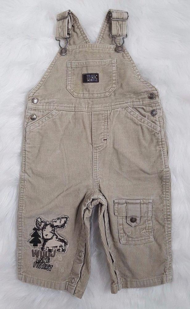 Carters Childrens Moose Print Corduroy Bib Overalls Forrest Size 12 Months #Carters #Overalls #babyfashion #nature #moose #tistheseason #biboveralls #corduroy #babystyle