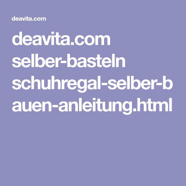 deavita.com selber-basteln schuhregal-selber-bauen-anleitung.html