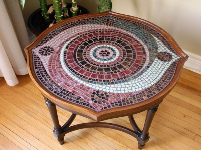 25 best ideas about mosaic table tops on pinterest for Mosaic coffee table designs