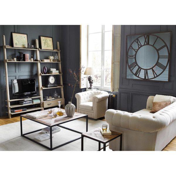 Recycled wood TV shelf unit W ... - Varenne
