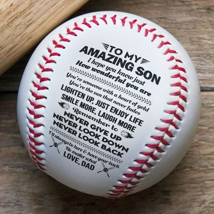 Bb27 Bab035 Dad To Son I Will Always Love You Warrior Baseball Ball Baseball Balls Meaningful Messages Always Love You