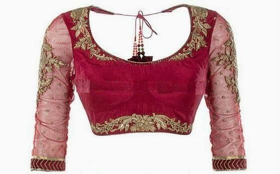 beautiful piece of handwork on rani pink blouse#handwork#designer#blouse#embroidery#pink