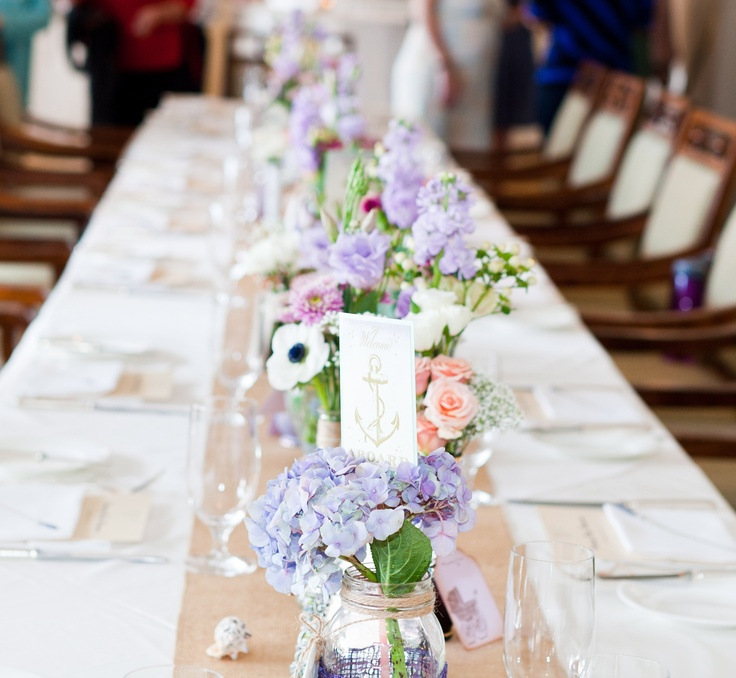 Perfect Baby Shower Centerpieces, Vintage And Classy. I Mixed Antique  Hydrangeas, Lavender Lisianthus