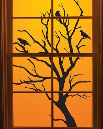 25 ideas to decorate windows with silhouettes on halloween shelterness - Halloween Window Decor