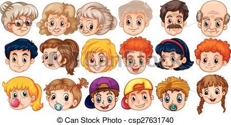 Vector - gezichten - stock illustratie, royalty-vrije illustraties, stock clip art symbool, stock clipart pictogrammen, logo, line art, EPS beeld, beelden, grafiek, grafieken, tekening, tekeningen, vector afbeelding, artwork, EPS vector kunst