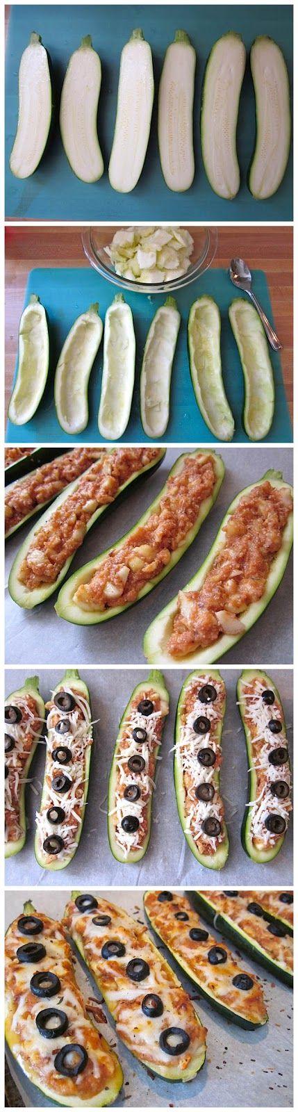zucchini pizza boats