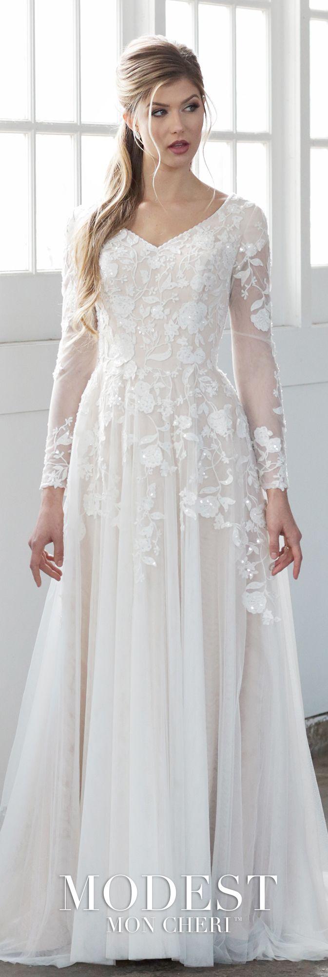 Conservative wedding dresses  Whimsical Conservative LongSleeve ALine Wedding Dress  Passion