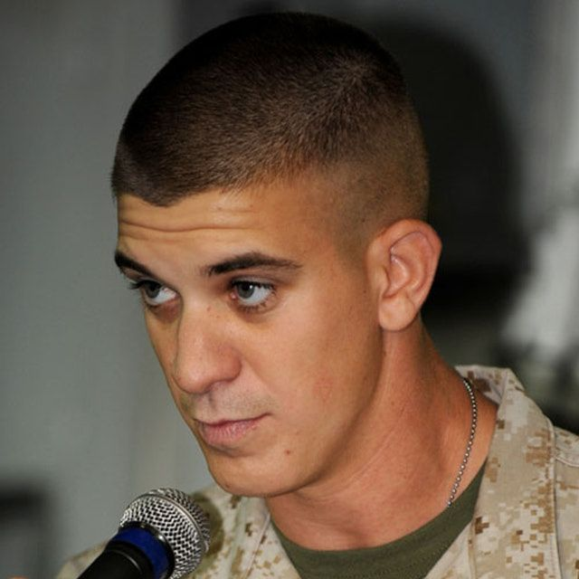 This gallery contains several great options for men looking for a short, military haircut.