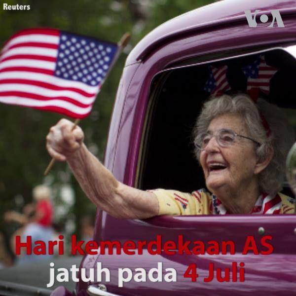 Bagaimana cara warga AS merayakan hari kemerdekaan mereka pada tanggal 4 Juli?