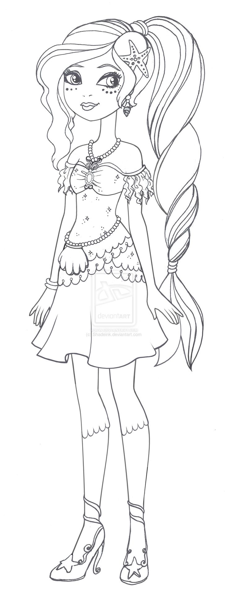 Ever After High Apple White Coloring Pages Nariel Miriam