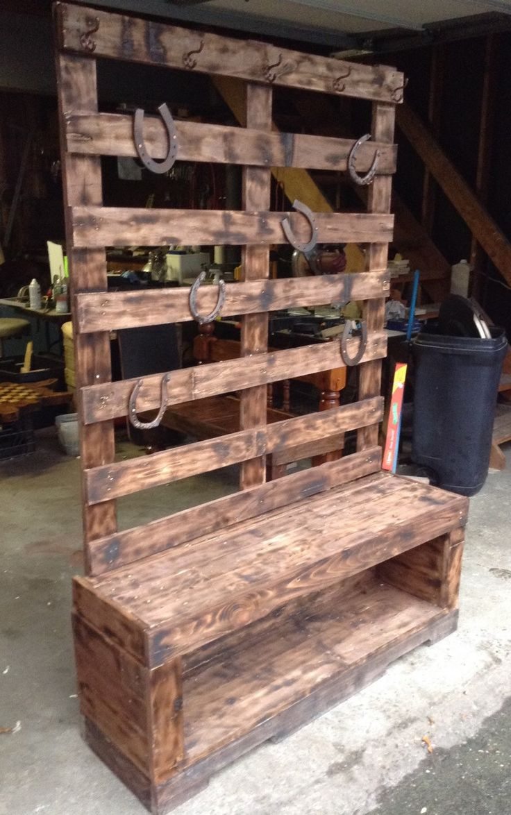 Custom Reclaimed Wood Mud Room Bench With A Secret
