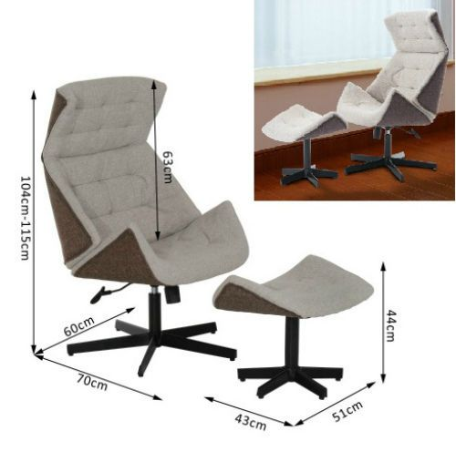Recliner & Footstool Swivel Sofa Chair Modern Design Chaise Lounge Therapy Seat  #Unbranded #Moderndesign