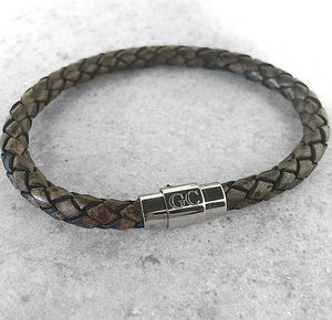 Men's Personalised Clasp Plaited Leather Bracelet - what's new