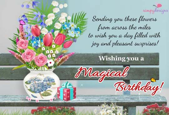 Birthday Quotes For A Friend Miles Away : Magical birthday from across the miles joanne smith happy