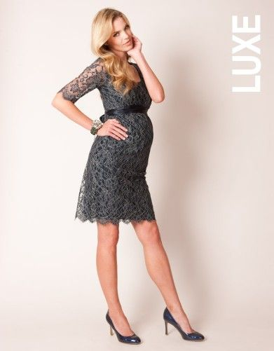 Navy Lace Maternity Cocktail Dress   Seraphine Maternity