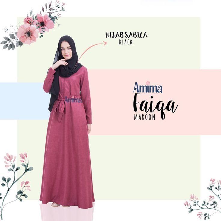 Gamis Amima Faiqa Dress Maroon - baju gamis wanita busana muslim Untukmu yg cantik syari dan trendy . . Size Chart (XS) LD 92 PB 135 (S) LD 96 PB 137 (M) LD 100 PB 139 (L) LD 104 PB 141 (XL) LD 112 PB 144 . . - Material bahan : LINEN BURBERRY LUX seperti katun menyerap keringat dan tidak mudah kusut/lecek ada garis garis serat benang nya sedikit mengkilat bisa buat formal dan daily - Dress yang simple dengan aksen kerah bulat - Manset tangan zipper memudahkan berwudhu - Kantong tersembunyi…